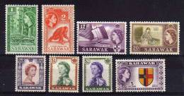 Sarawak - 1955/57 - QEII Definitives (Watermark Multiple Script CA, Part Set) - MH - Sarawak (...-1963)