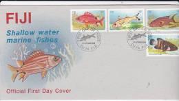 Fiji 1985 Marine Fishes FDC - Fiji (1970-...)