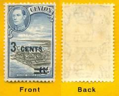 Sri Lanka Stamps, Ceylon 1941 Surcharge, MNH - Sri Lanka (Ceylon) (1948-...)