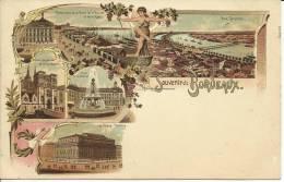 BORDEAUX (SOUVENIR DE...), LITHO PIONNIERE  - SCAN R/V - Bordeaux