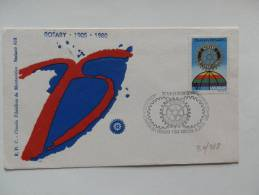 30/988      FDC URUGUAY - Rotary, Lions Club