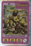 Sor095 Carta Da Gioco, Esselunga, Dreamworks Animation, Cartoni Animati, Sherk Fiona E La Resistenza, N. 81 Special - Trading Cards
