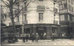 Cpa Caen 14 Calvados Pharmacie Du Progres Place St Pierre - Caen