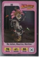 Sor102 Carta Da Gioco, Esselunga, Dreamworks Animation, Madagascar 3, Ricercati In Europa, Re Julien Maurice, 32 Special - Trading Cards
