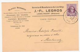 "Ancienne Carte Postale ""Verreries & Manufactures Du Lion Belge ""J.-Fl. Legros  Lodelinsart - Collections"
