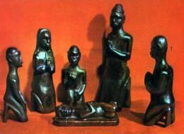 Noel Au TCHAD Creche Sculptee Par Mathias Goyo A Fort Archambault - Ciad