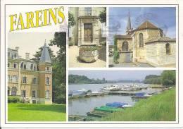 01 - AIN - FAREINS  Chateau De La Colonie  - La Mairie - L Eglise - Port De Plaisance - France