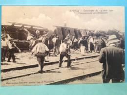 SAUJON  La Catastrophe Ferroviaire Du 14 Aout 1910 (t Tres Belle Carte Ancienne ) - Saujon