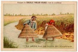 Chromo Chocolat / Cacao Poulain : La Pêche Sur Les Bords De L'Euphrtae (nasses)