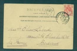 N°51 Oblitéré Utrecht 20 Oct 1902 Sur CP Pour Bordeaux - Periode 1891-1948 (Wilhelmina)