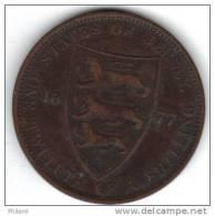 COINS  JERSEY KM8 1/12 Sh 1877 .   (DP45) - Jersey
