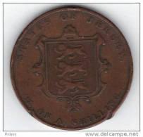 COINS  JERSEY KM3 1/3 Sh 1844 .   (DP44) - Jersey