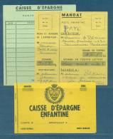 Poste Enfantine. 1 Livret Caisse D´épargne + 1 Fiche De Dépot + 1 Mandat - Games