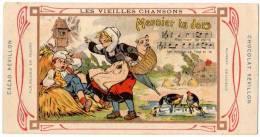 Chromo Chocolat Révillon : Les Vieilles Chansons, Meunier, Tu Dors (moulin, Canards, Cochon Dans Panier) - Revillon