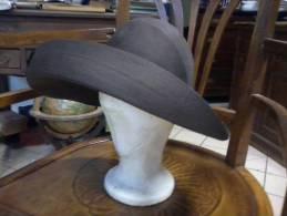 Cappello D'Epoca - Marron A Tesa Larga - - Alta Moda