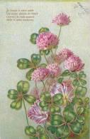 21163 Treffle Quatre Feuilles, Fleur, Relief Doré. Mille Et Un Bonheurs - Fleurs, Plantes & Arbres