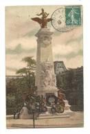 Cp, 75, Paris, Monument élevé à La Mémoire De Gambetta, Voyagée 1909 - Frankrijk