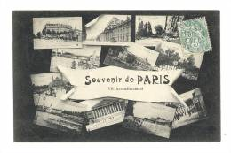 Cp, 75, Paris, 7è Arrondissement, Multi-Vues, Voyagée 1905 - France