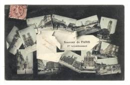 Cp, 75, Paris, 4è Arrondissement, Multi-Vues, Voyagée 1905 - France