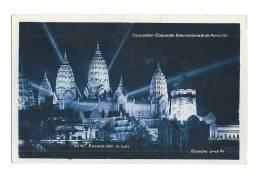 Cp, 75, Paris, Exposition Coloniale Internationale De Paris 1931, Angkor-Vat, La Nuit, écrite - Expositions