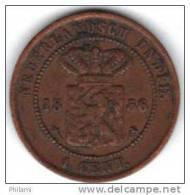COINS  PAYS BAS INDIA KM307.2 1ct 1856.   (DP69) - Indes Néerlandaises