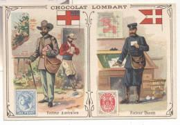 2722-FIGURINA CHOCOLAT LOMBART-FACTEUR AUSTRALIEN-FACTEUR DANOIS - Lombart