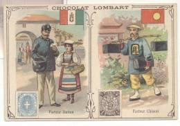 2726-FIGURINA CHOCOLAT LOMBART-FACTEUR ITALIEN-FACTEUR CHINOIS - Lombart