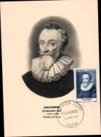 N°1028 SUR CARTE POSTALE / MALHERBE / 1er JOUR DATE DU 11.06.1955 / CAEN - Cartes-Maximum