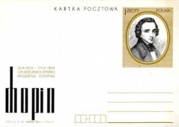 POLOGNE - POLAND - 1974 ENTIER CHOPIN - Musica