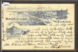 ZÜRICH  - HOTEL BAUR AU LAC - LITHO - TB - ZH Zurich