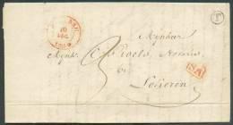 LAC De BEVEREN Le 9 Décembre 1840 + Boîte T De KIELDRECHT Vers Lokeren; Taxée 3 Décimes. - 8296 - 1830-1849 (Belgique Indépendante)
