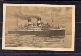 """33684  Italia, Vierschraubenluxdampfer """"Giulio  Cesare"""" -  N.G.I. - Generalvertretung Fur Oesterreich, VG 1929 - Barche"""