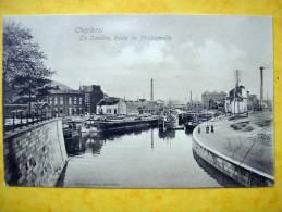 Cpa CHARLEROI   La Sambre, Route De Philippeville  Peniches,Usines,Cheminees - Charleroi