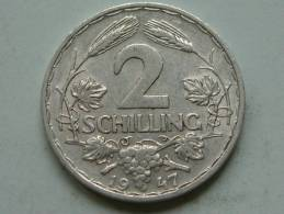 1947 - 2 SCHILLING / KM 2872 ( Uncleaned Coin / For Grade, Please See Photo ) !! - Autriche