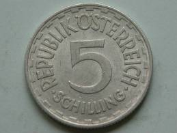 1952 - 5 SCHILLING / KM 2879 ( Uncleaned Coin / For Grade, Please See Photo ) !! - Autriche