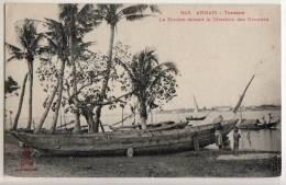 Annam  Tourane  La Rivière Devant Les Douanes - Postcards