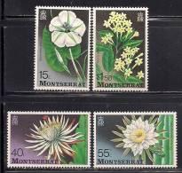 Montserrat      Flowers Of The Night    Set   SC# 366-69 MNH** - Plants