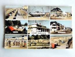 Carte Postale Ancienne : FORT-MAHON En 9 Vues - Fort Mahon