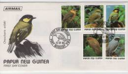 FDC  PAPUA NEW GUINEA  Birds     /  Papouasie-Nouvelle-Guinée  Oiseaux  1989 - Sperlingsvögel & Singvögel