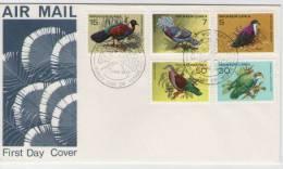 FDC  PAPUA NEW GUINEA  Birds     /  Papouasie-Nouvelle-Guinée  Oiseaux  1977 - Tauben & Flughühner