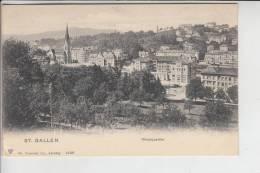 CH 9000 SANKT GALLEN, Westquartier, Frühe Karte - Ungeteilte Rückseite - SG St. Gallen