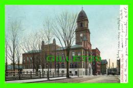 LEWISTON, MAINE - CITY HALL - THE HUGH C. LEIGHTON CO - UNDIVIDED BACK  - TRAVEL IN 1905 - - Lewiston