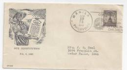Philippines Cover To US 1948 - Philippines