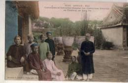 Annam  Hué  Gardiennes Au Tombeau De Thieu-Tri - Postcards