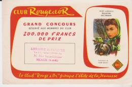 Buvard Librairie Rouge Et Or églantine Des Chemins Tampon Librairie De L'Archer Meaux - Stationeries (flat Articles)