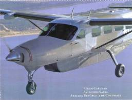 Lote PEP335, Colombia, Postal, Postcard, Armada, Gran Caravan, Aviacion Naval, Navy, Airplane - Colombia
