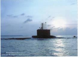 Lote PEP339, Colombia, Postal, Postcard, Armada, Submarino Oceanico, Navy, Submarine - Colombia
