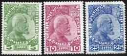 Les 3 Premiers Timbres Neufs - Liechtenstein