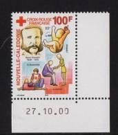Nelle CALEDONIE 2000  N° YT 830** Croix Rouge Française Henri Dunant 100€ CDF Date - Nouvelle-Calédonie