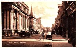 CPA - England Angleterre - Oxford High Street - Scène De Rue - Chevaux Velo - 2 Scans - État : TB - Oxford